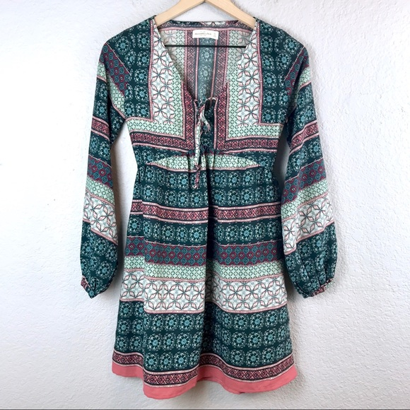 Abercrombie & Fitch Dresses & Skirts - Abercrombie & Fitch Long Sleeve Peasant Dress